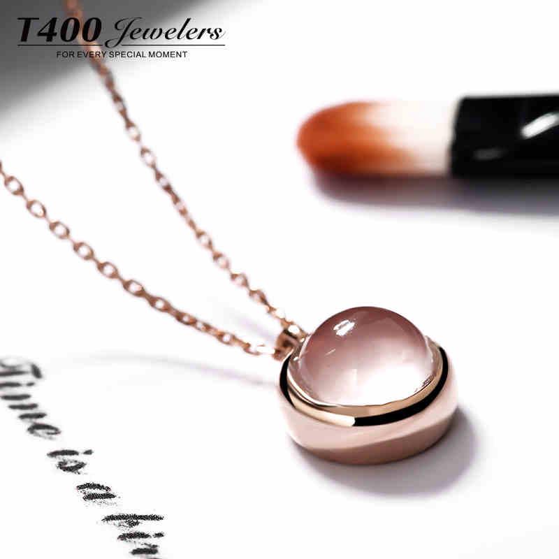 娇嫩粉晶 球面切割 质感S925银